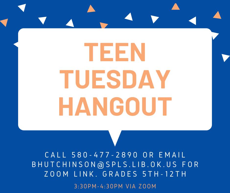 Teen Tuesday Hangout poster
